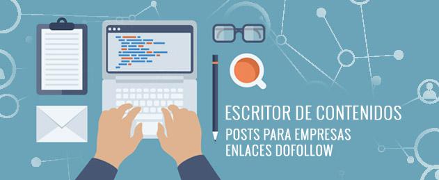 Escritor de contenidos, post para empresas