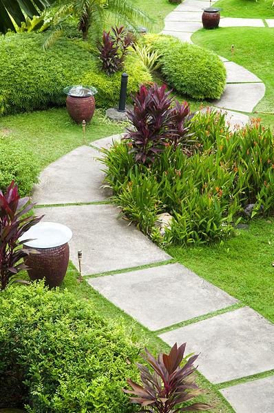 Diseño para jardines camino